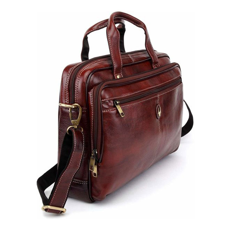 WildHorn Leather Brown Messenger Bag - 1