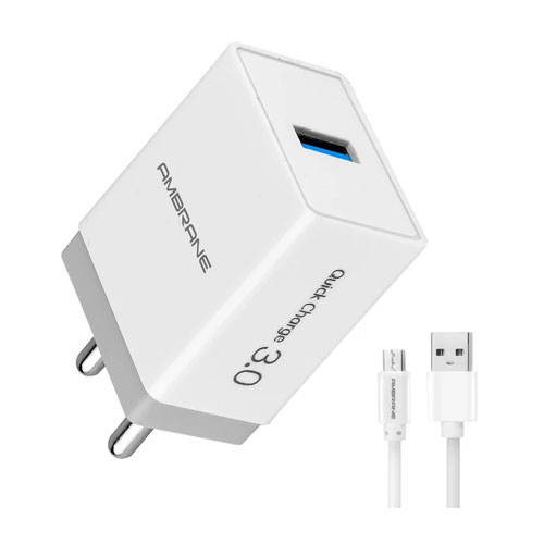 Ambrane AQC-56 Quick Charge 3 Enabled Wall Charger