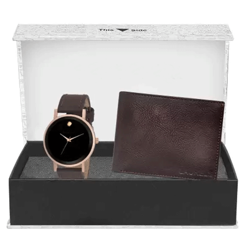 Analog Watch & Wallet Combo