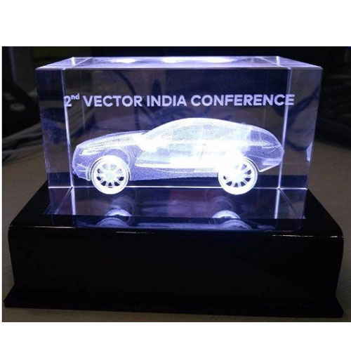 Car Shape Crystal Trophy