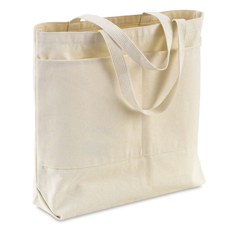 Canvas Tote Bag with Front Pocket