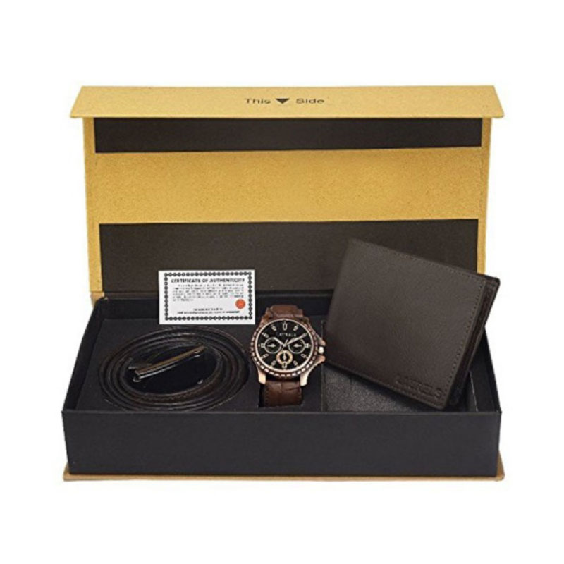 Belt, Watch and wallet Set