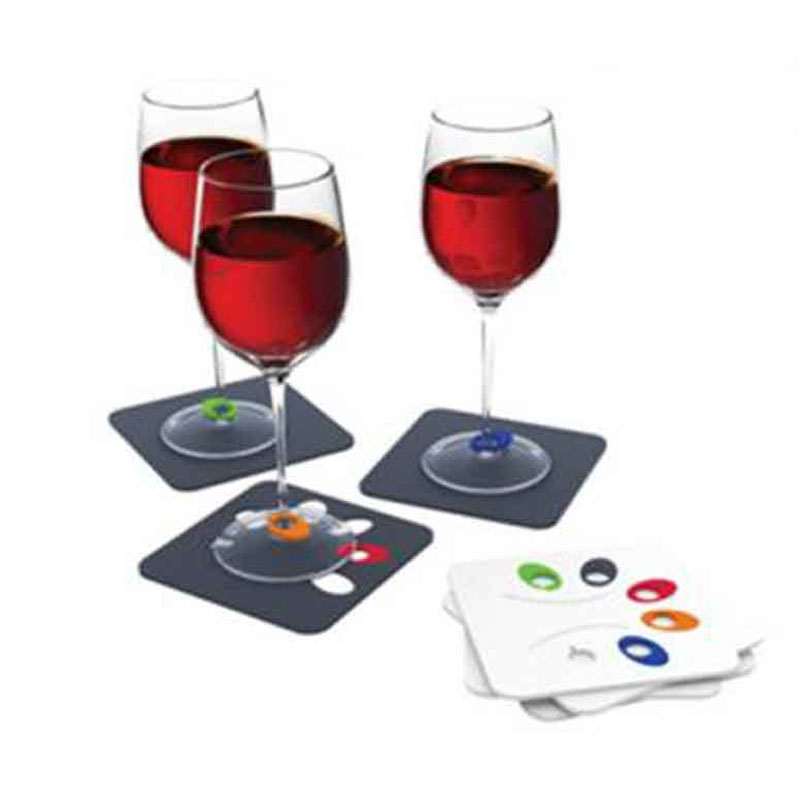 Promotional Wine Glass Marker Coasters