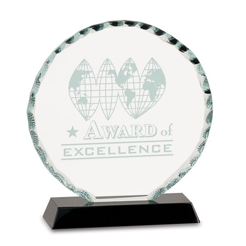 Premier Facet Cirlce Glass Award