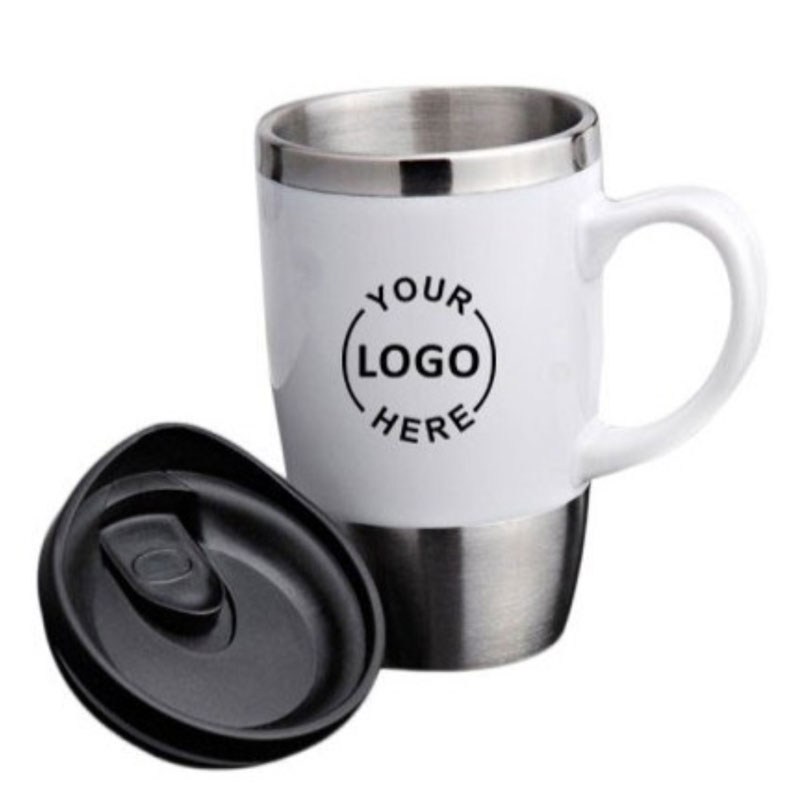 Flask with Mug Handle