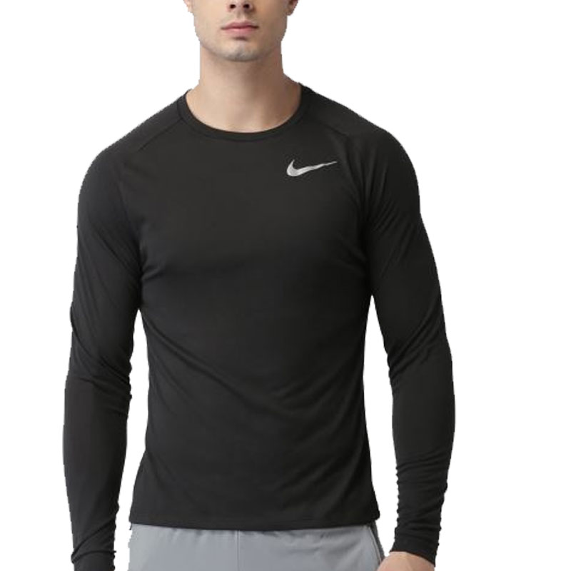 Nike Solid Round Neck T Shirt
