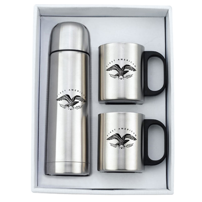 Stainless Steel Mugs & Thermo Set