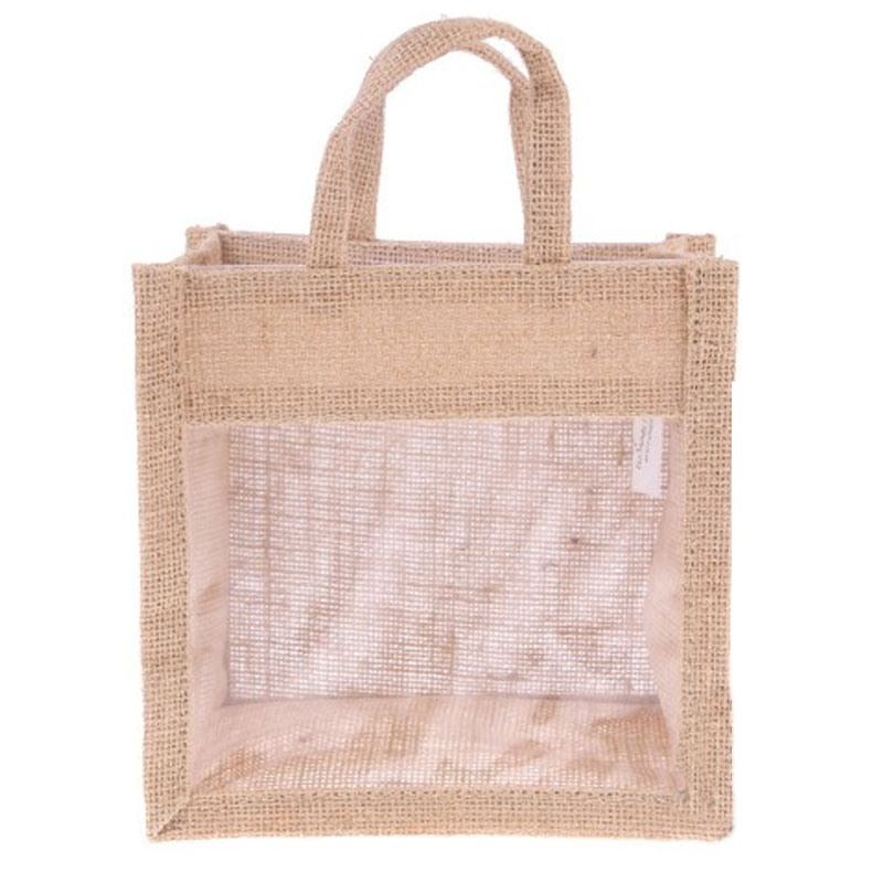 Jute Bag with Transparent Window