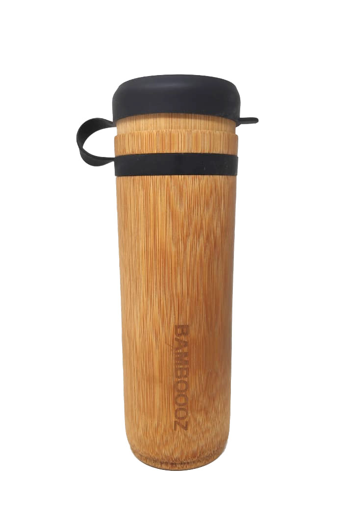 Bamboo Bottle with Silicone Cap- 100 Natural
