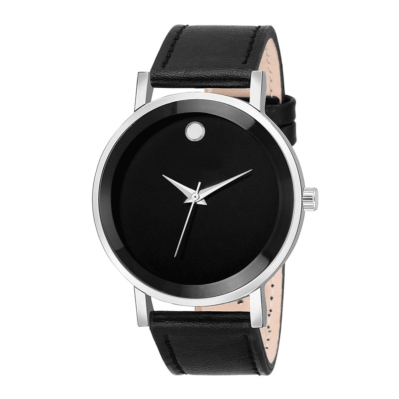 Analog Black Dial Men's Watch - 020207