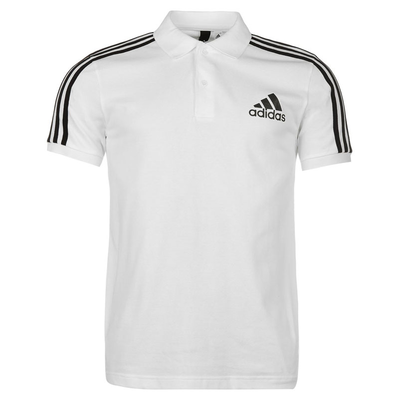 Adidas 3 Stripes Logo Polo Shirt
