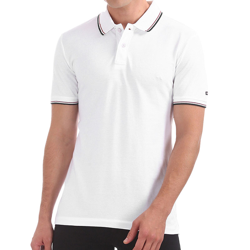Arrow Solid Men Polo Neck White T-Shirt