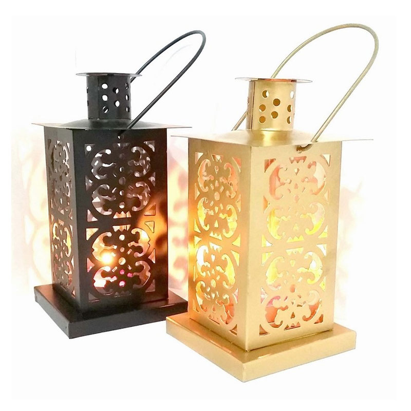 Black & Gold Iron Lantern