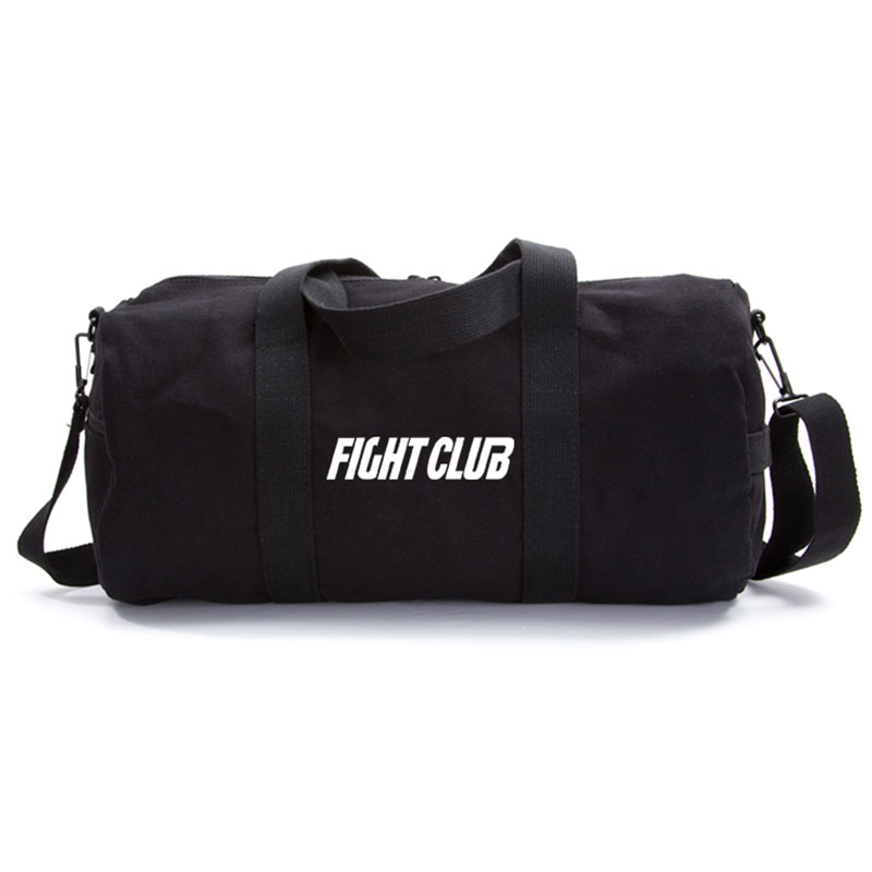 Black Canvas Duffel Bag