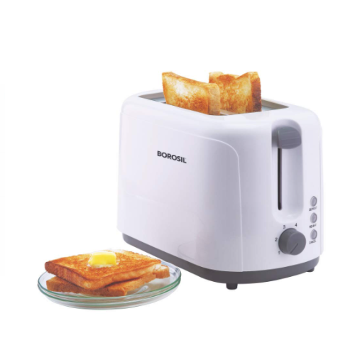 Borosil BTO750WPW11 750-Watt Krispy Pop-up Toaster (White)