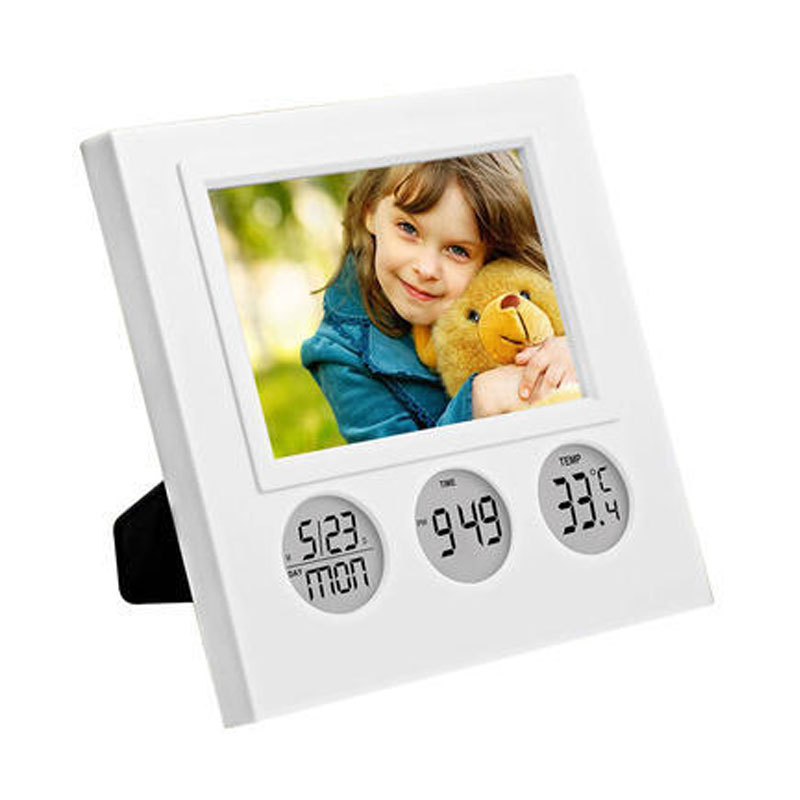 Bubble Photo Frame with Clock