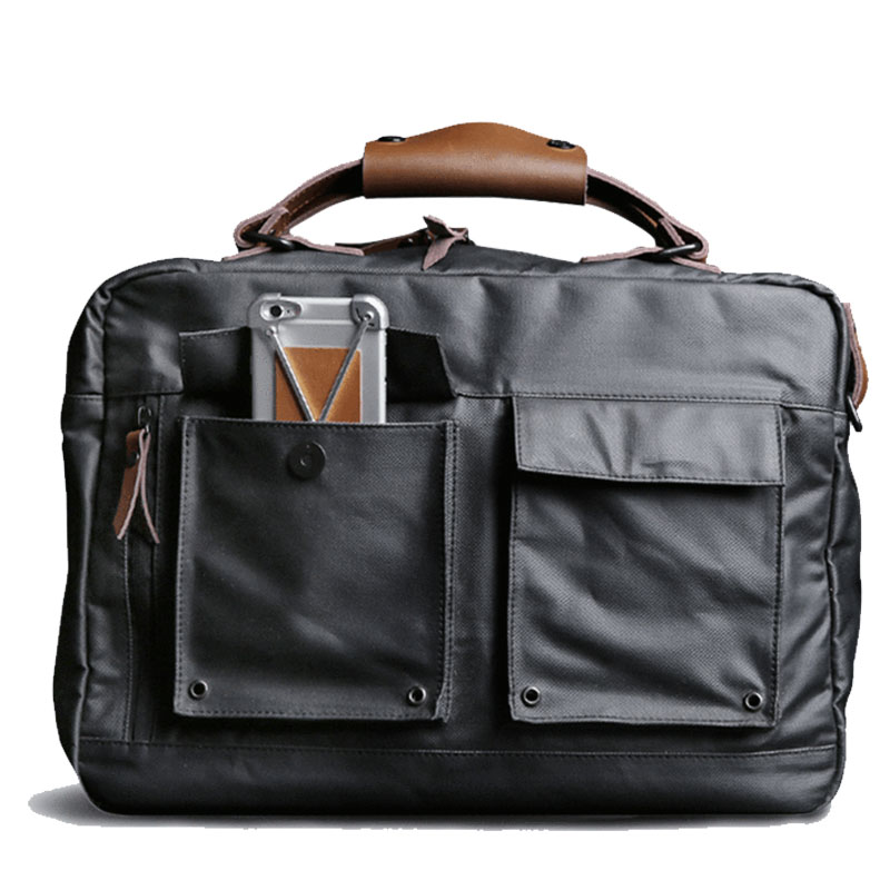 Charcoal Black Laptop Messenger Bag