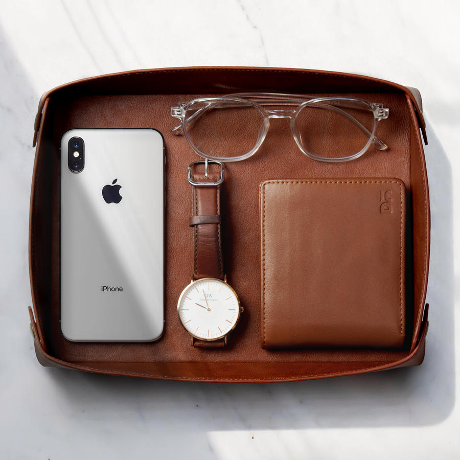 Valet Vegan Leather Tray