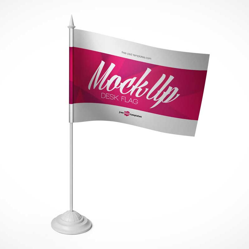 Customised Desktop Flag Pole