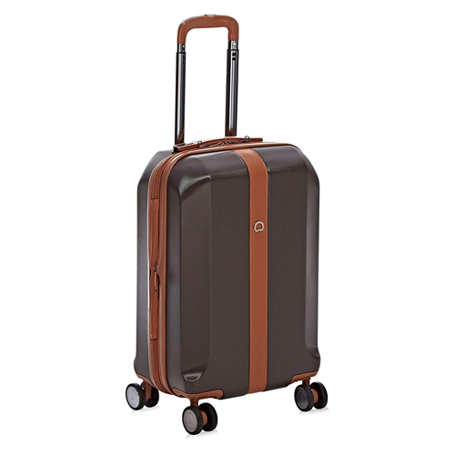 Delsey Polycarbonate 57.5 cms Chocolate Hardsided Cabin Luggage