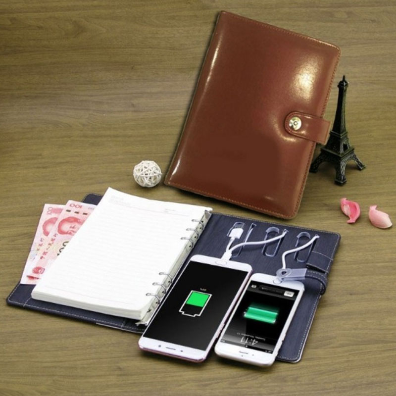Diary with built in Power Bank