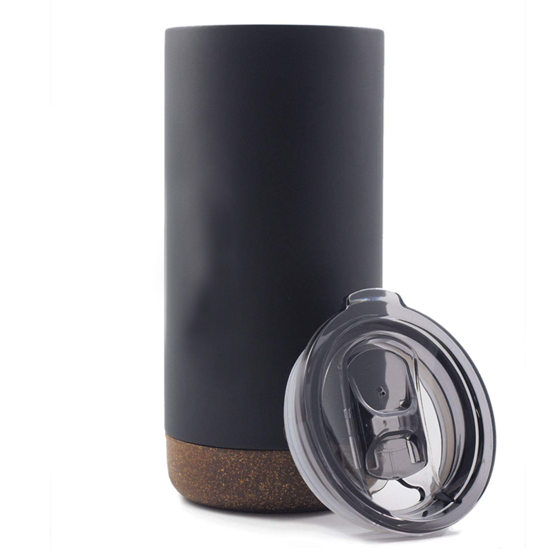 Double Wall Stainless Steel Mug with Cork Coaster