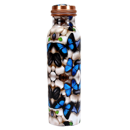 Elegant Butterfly Design Printed Bottle