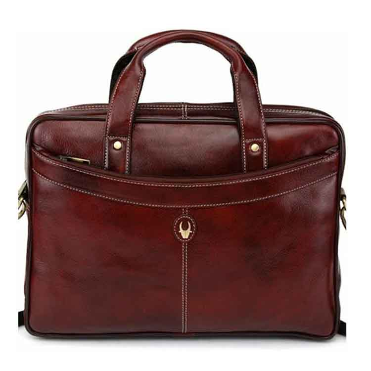 e244a739fe25 Embossed Leather Messenger