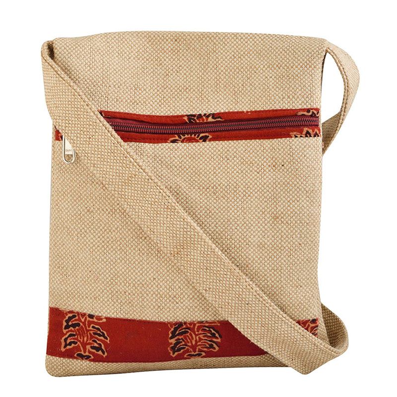 Fancy Jute Sling Bag