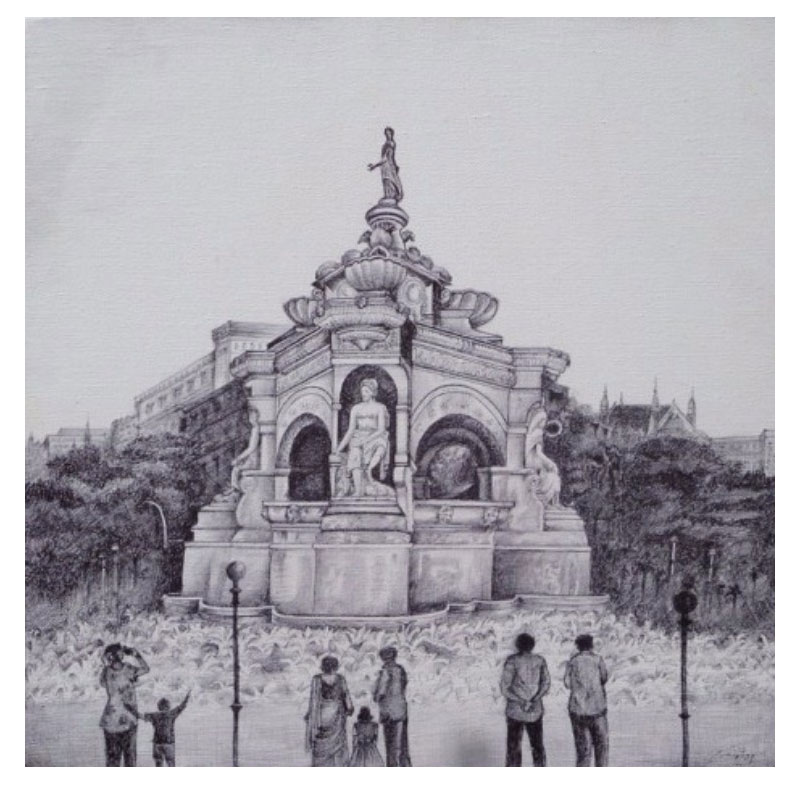 Flora Fountain Painting
