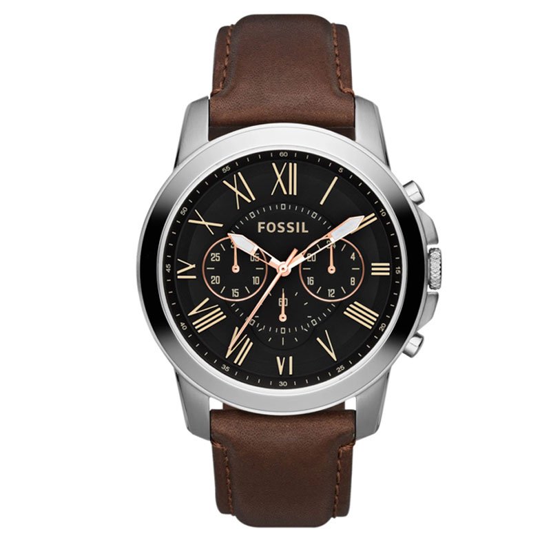 Fossil Grant  Brown Leather Mens Watch