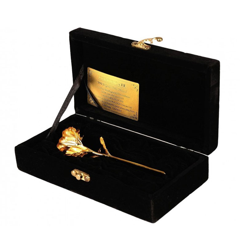 Gold Foil Rose In 24K Gold With Velvet Gift Box