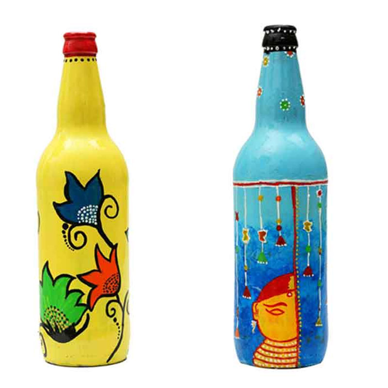 Hand-Painted Decorative Bottle