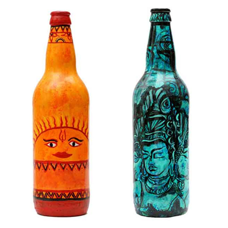 Hand-Painted Innovative Bottle
