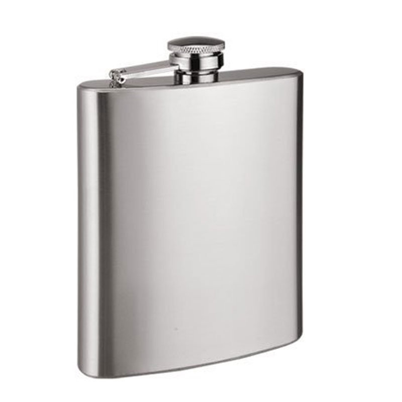 "Hit Play Stainless Steel Hip Flask 8""oz"