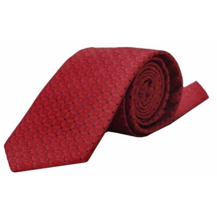 Blackberry Maroon Signature Patterned Tie