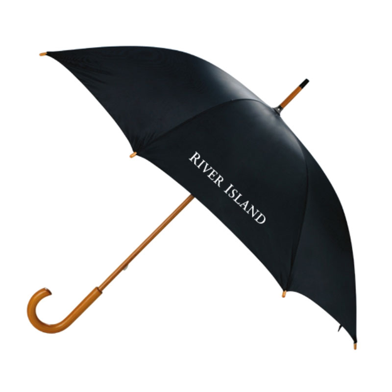 J Shape Umbrella Wooden Handle