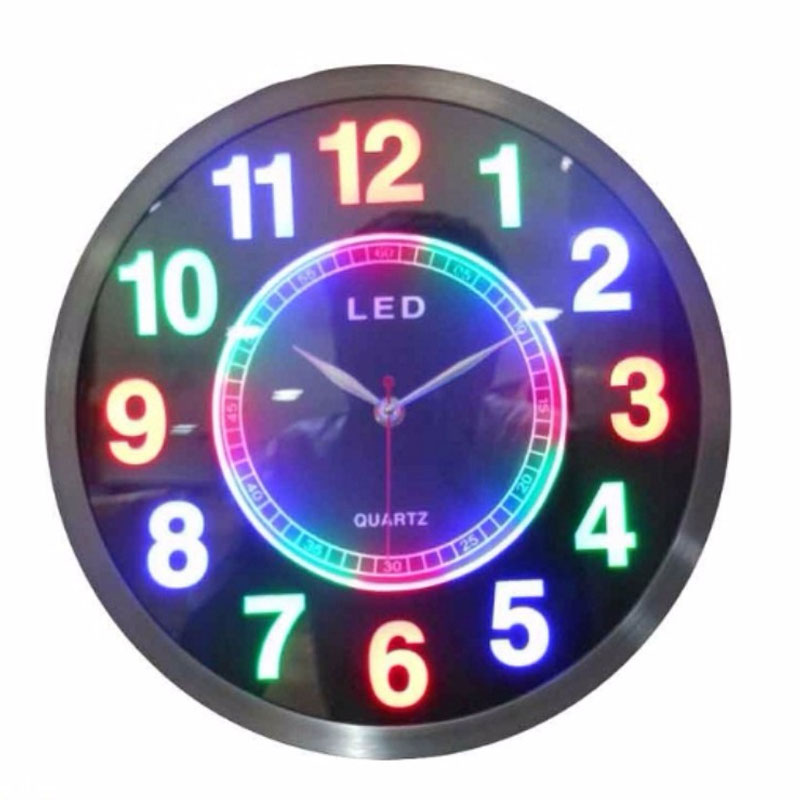 LED Wall Clock- Multi Color