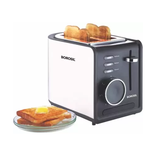 Borosil BTO850WSS21 850 W Pop Up Toaster