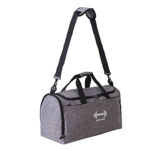 Sports gym bag with wet pocket & shoes compartment