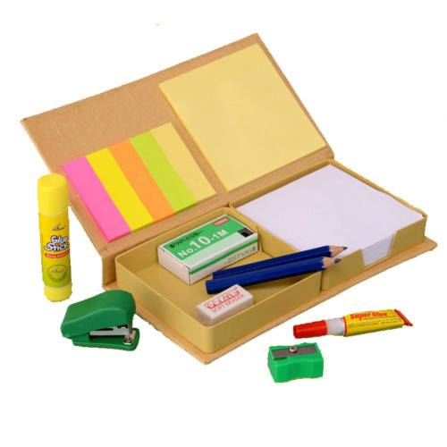 Eco stationery set with memo pads