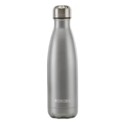 Borosil Bolt Silver 750 ml Bottle