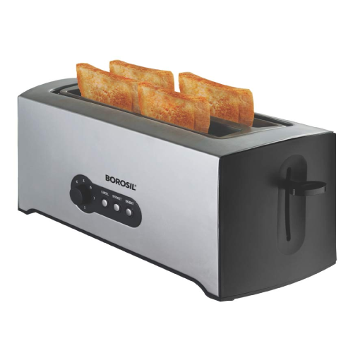 Borosil BTO1500SS22 4-Slice Pop Up Toaster