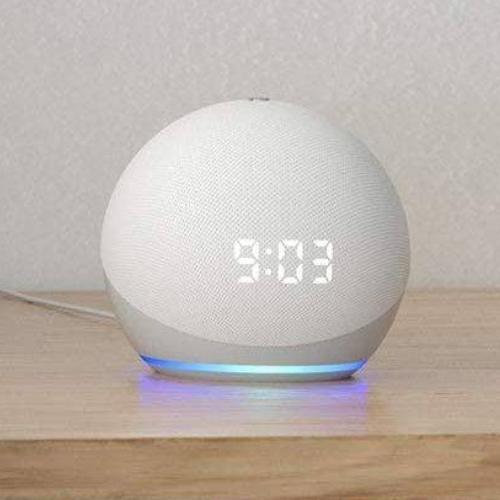 All-new Echo Dot (4th Gen) with Clock