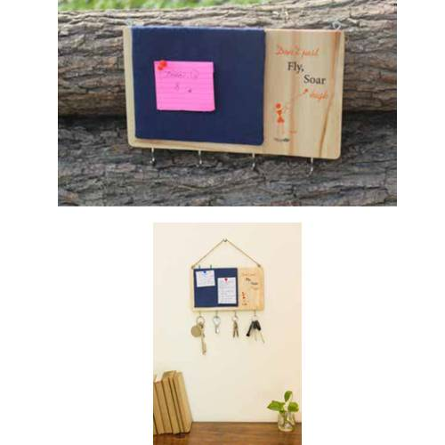 Warli key holder with a pin board