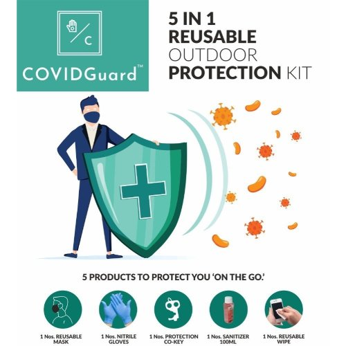 COVIDGuard 5 IN 1 Reusable Outdoor Protection Kit