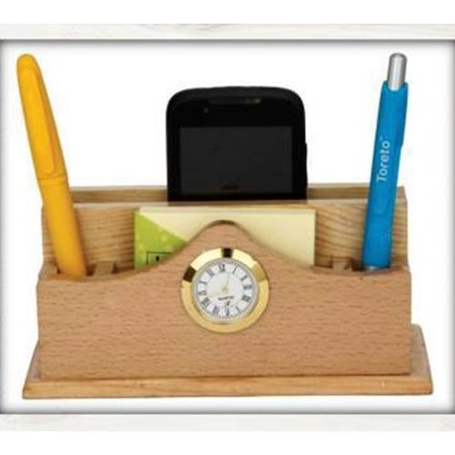 Wooden Mobile pen holder