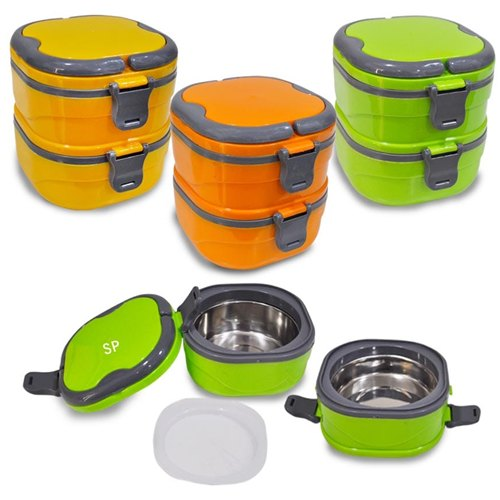 Two Layer Steel Insulated Lunch Box