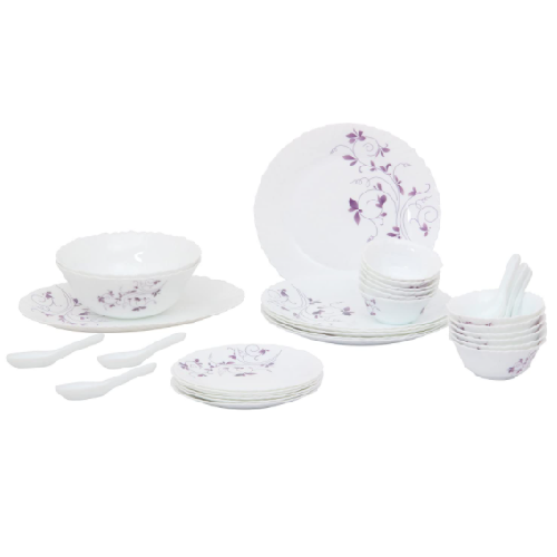 La Opala Diva Dazzle Purple 33 pcs Dinner Set