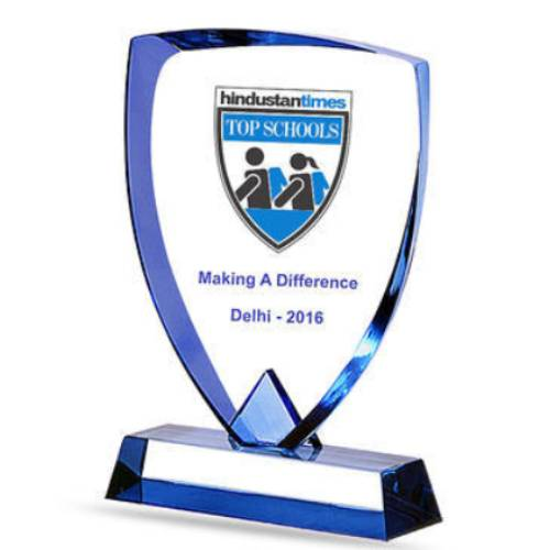 Blue Shield Acrylic Trophy